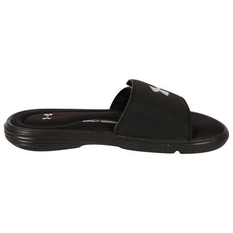 mens armour sandals armour ignite iii s slide sandals black mens