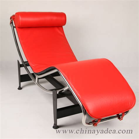 Le Corbusier Chaise Lounge Chair In Red Leather News Yadea