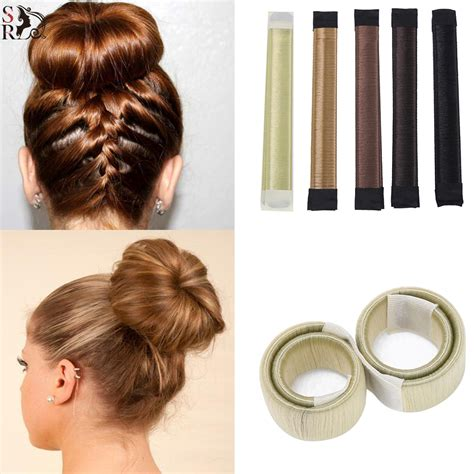 plate hair 1pc hair accessories synthetic wig plate hair donut bun