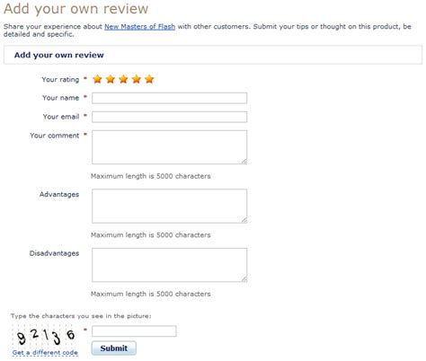 Add Review by X Cart X Advancedcustomerreviews X Cart 4 Classic