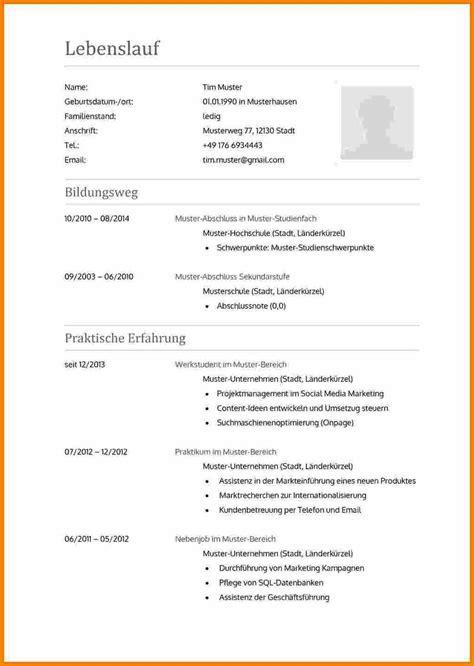 Lebenslauf Muster Ausbildung Word by 8 Lebenslauf Vorlage Ausbildung Timothy Hodge