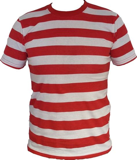details about men red and white striped shirt s m l xl