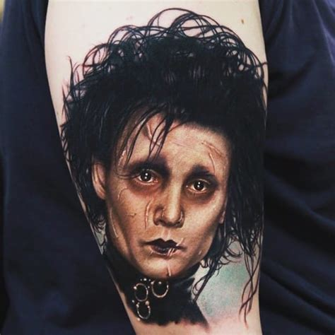 edward scissorhands tattoo 21 edward scissorhands tattoos that will cut your up