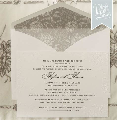 the wedding invitation boutique the paper pantry wedding invitations sydney with