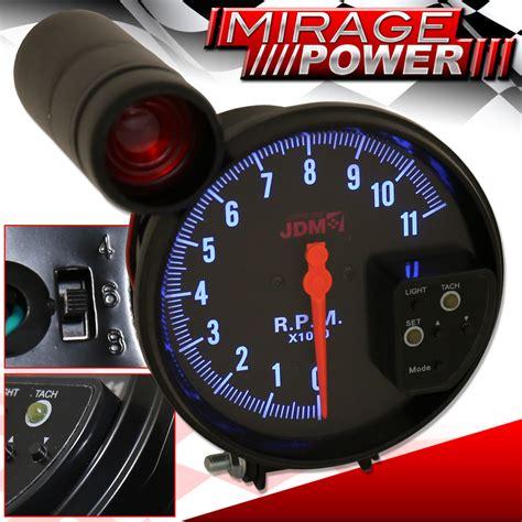 Takometer Tachometer Rpm Meter Shift Light 5 quot all subaru black tachometer 11k rpm jdm