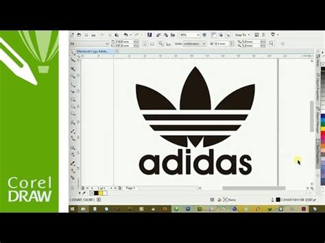 tutorial logo adidas coreldraw how to make adidas logo in coreldraw youtube