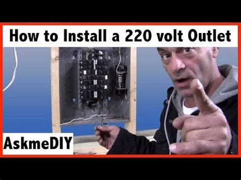 how to install a 220 volt outlet electrical
