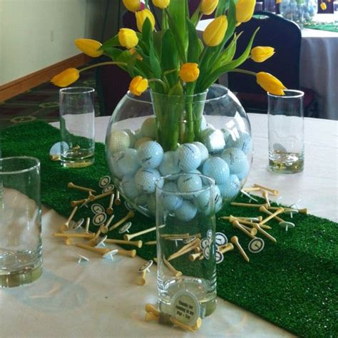golf themed decorating ideas graduation golf theme centerpiece golf