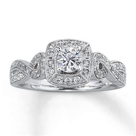 engagement ring 5 8 ct tw cut 14k