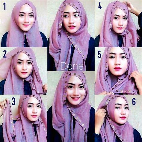 tutorial hijab pashmina lebar simple 24 model hijab pashmina sederhana 2017 tanpa ribet