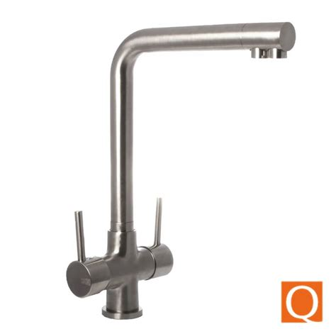 Soft Flow Kitchen Taps by Osmio Mariella Brushed 3 Way Tri Flow Kitchen Tap 3