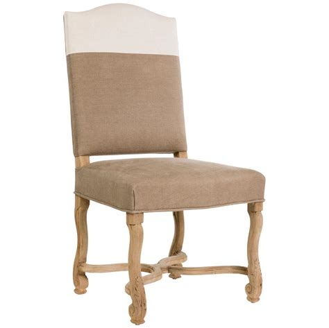 white country dining chairs upholstered monaco country brown white upholstered dining chair pair kathy kuo home