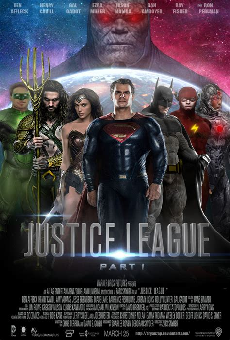 Film Justice League Part 1 | justice league part 1 movie poster by bryanzap on deviantart