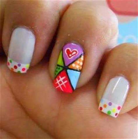 imagenes de uñas decoradas de varios colores 75 creativos dise 241 os de u 241 as decoradas con puntos f 225 ciles