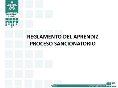 reglamento del aprendiz sena acuerdo 00007 de 2012pdf reglamento aprendiz presentacion acuerdo 0007 de 2012