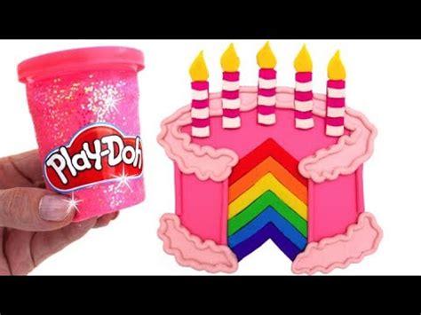 Dun Doh Birthday Cake learn colors play doh colorful birthday cake toys disney