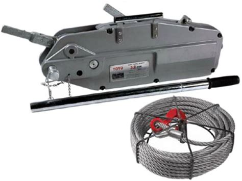Wire Rope Winch 3 2 Ton X 20 M 3 2ton x 20m toyo 521620 wire rope winch tirfor cable