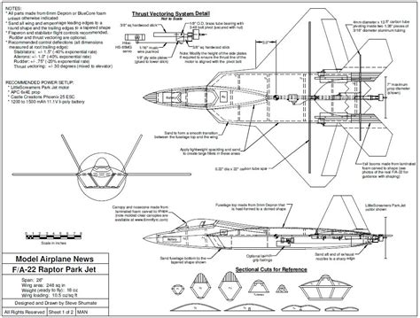 F Drawings Blueprints by F A 22 Raptor You Can Build Model Airplane News