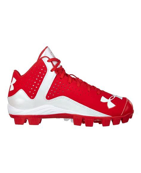 armour baseball shoes boys armour leadoff mid rm baseball cleats ebay