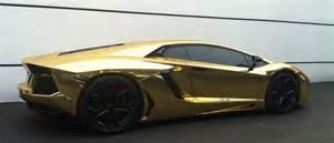 Gold Lamborghini Pictures Gold Lamborghini Aventador Cars On The Streets Of