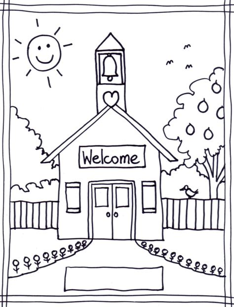drop dead welcome back coloring pages school house coloring pages coloring for