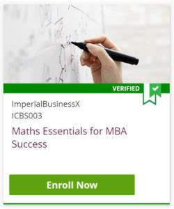 Maths Essentials For Mba Success by Mba Preparation 4 Pre Mba Courses Essential For Success
