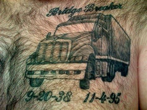 truck driver tattoos chest picture at checkoutmyink