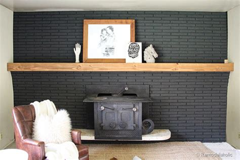 Easy Diy Fireplace Mantel by Remodelaholic Easy Wood Mantel For Brick Fireplace