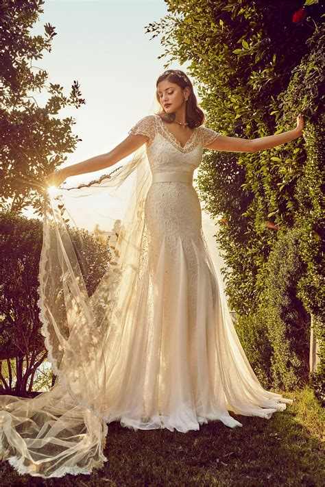 wedding dresses  bhldn wedding dresses  romantic affordable glamour