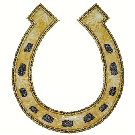 house shoe instant download lucky horseshoe machine embroidery applique