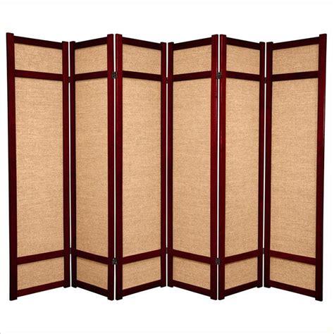 Shoji L by Furniture 6 Panel Shoji Screen In Rosewood