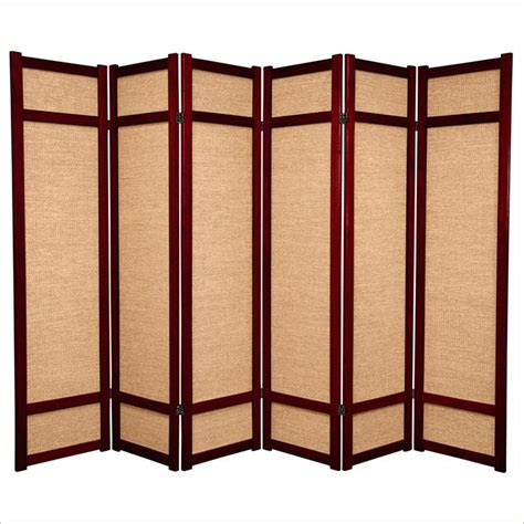 Oriental Furniture 6 Tall Panel Shoji Screen In Rosewood Room Divider Furniture