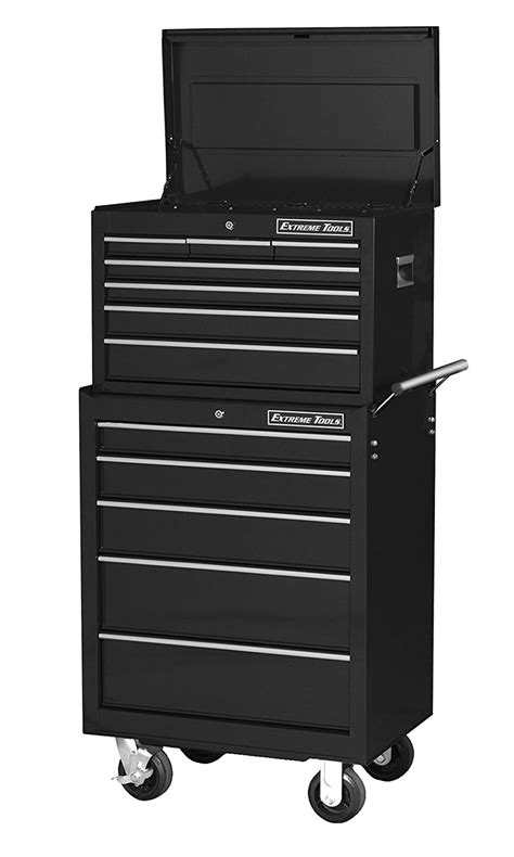 26 in 16 drawer glossy roller cabinet combo tools 26ʺ 7 drawer top chest and 5 drawer roller
