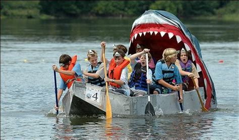 cardboard boat race white lake mi cardbaord boats oakland county lakefront home for sale