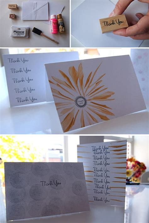 how to make your own thank you cards diy thank you cards diy