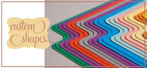Paper Shapes - laser cut paper cards pockets