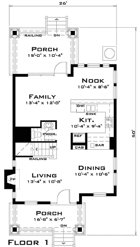 award winning narrow lot house plan 44037td 2nd floor