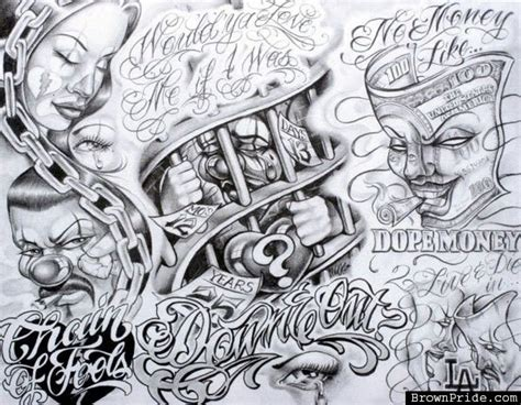 Top Boog Tattoo Flash Images For Pinterest Tattoos Chicano Flash