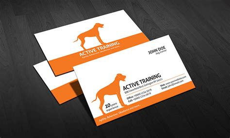 free business cards templates canine trainer business card template 187 free 187 pa00004