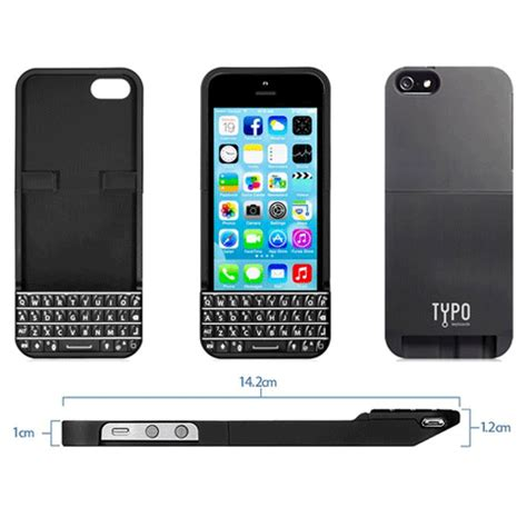 typo keyboard for iphone 5 5s se black