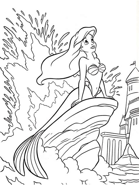 cute ariel coloring pages colouring pages cute kawaii resources