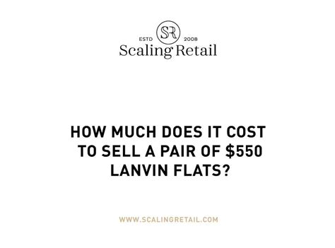 how much does it cost to sell a house how much profit comes from lanvin flats