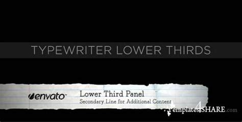 Typewriter Lower Thirds After Effects Project Videohive 187 Templates4share Com Free Web After Effects Lower Thirds Templates