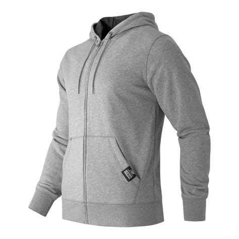 Hoodie Zipper New Balance Jaket Sweater Keren new balance zip fleece hoodie in gray for lyst