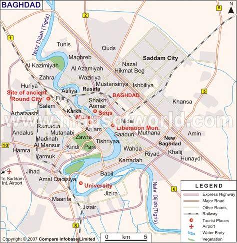 map of baghdad baghdad carte et image satellite