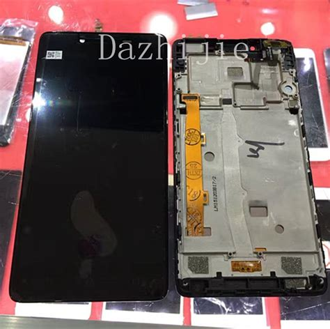 Lcdtouchscreen Lenovo A6010 Black Diskon a6010 lcd display touch screen panel with frame digitizer accessories repair parts for lenovo