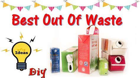 diy best out of waste ideas milk cartonjuice craft