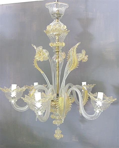 Murano Chandelier Uk And Clear Glass Murano Chandelier 306789 Sellingantiques Co Uk