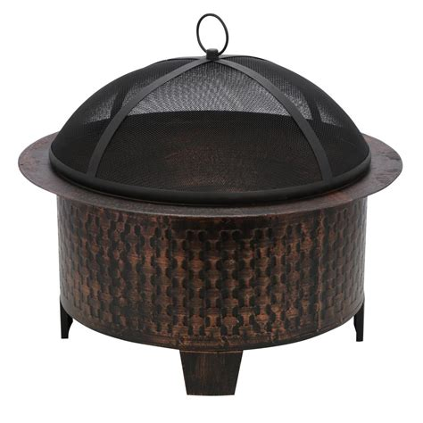 Cast Iron Firepit Cobraco Woven Base Cast Iron Pit Fbciwoven Bz The Home Depot