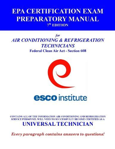 epa section 608 practice test discover the book esco institute section 608